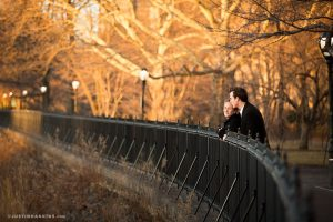 Scenes from Amy and James's winter engagement portrait session in New York City's Central Park.