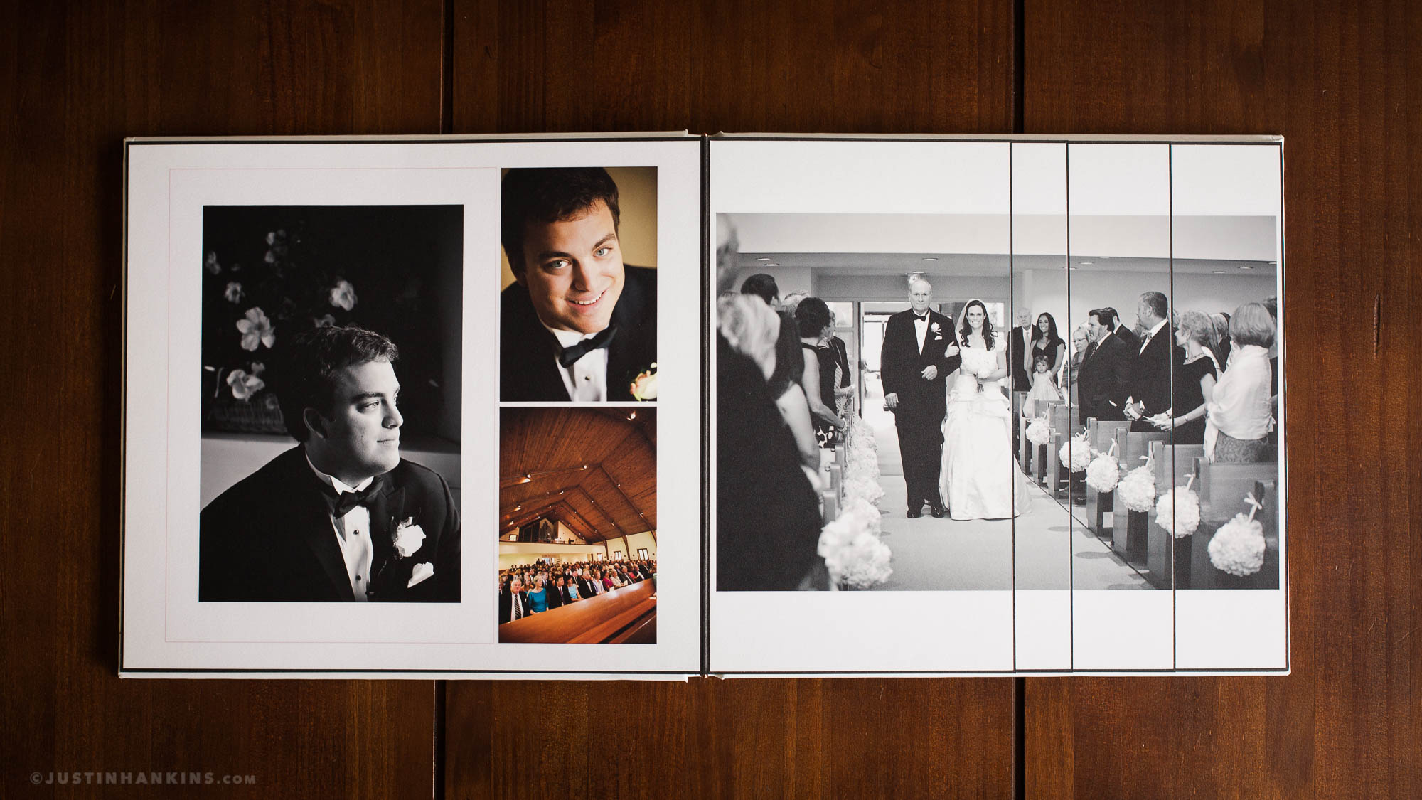 fine art wedding album justin hankins photography