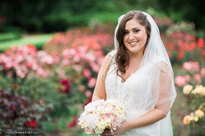 Norfolk Botanical Garden Rose Garden Wedding - Erin & Greg
