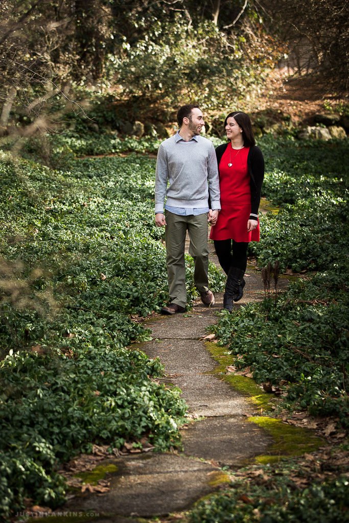 A Summery Winter Engagement Session at Dow Gardens and the Tridge ...