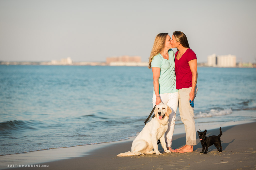 LGBT Engagement Photos Along the Beach