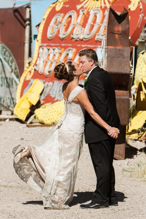 Neon Graveyard Wedding Photos - Las Vegas