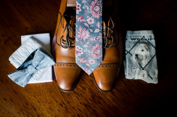 Groom Details - Tie, Shoes, and Socks