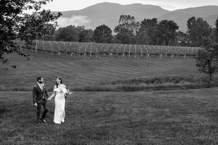 Bride & Groom at Charlottesville Winery
